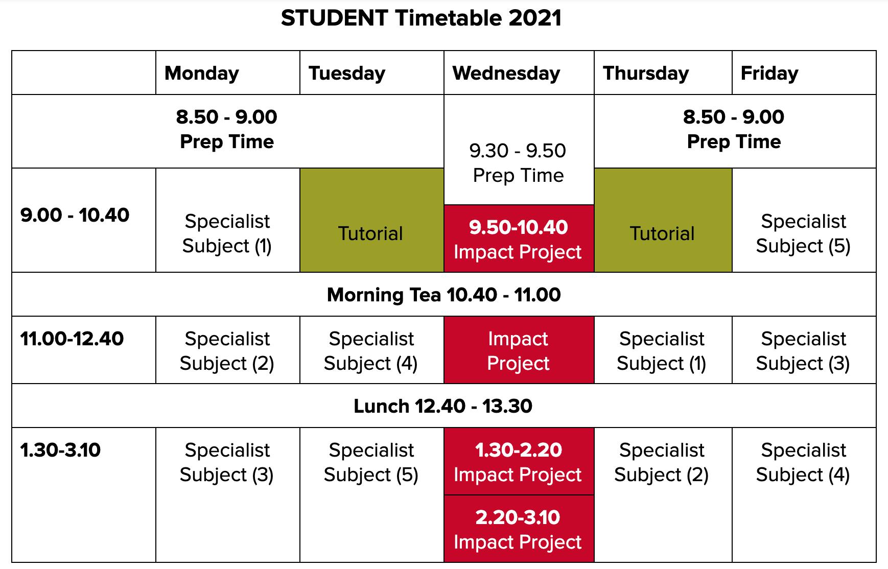 ASHS Student TT 2021